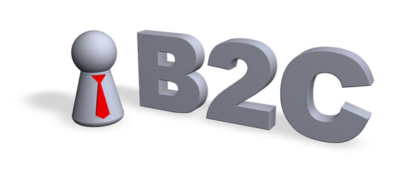 b2c - business to consumer marketing illustration