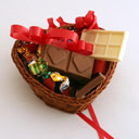 chocolate gifts in a basket
